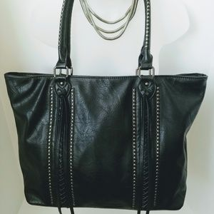 👛Women's | Black Embellished Tote Bag